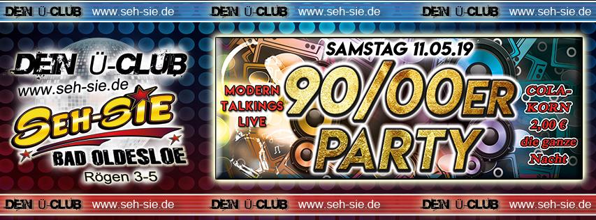 90/00er Party Samstag 11.05.2019