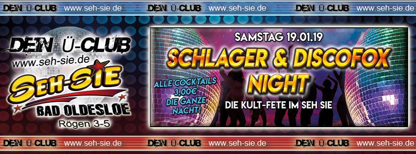 Schlager & Disco Fox Night Samstag 19.01.2018