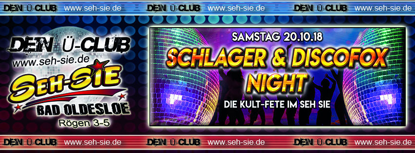 Schlager & Disco Fox Night 20.10.2018