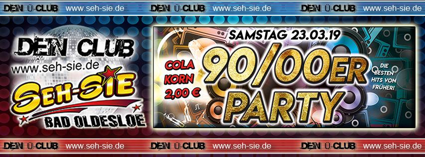 90/2000er Party Samstag 23.03.2019