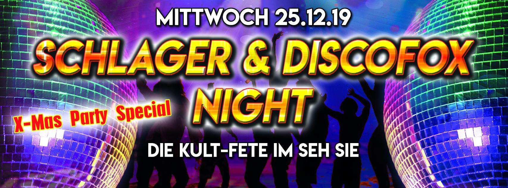 25.12.2019 Schlager & Discofox  X-Mas Party